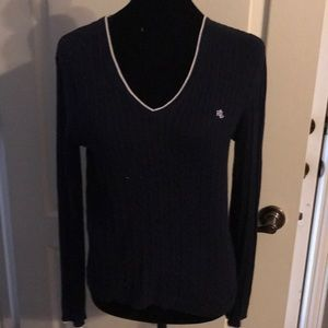 Ralph Lauren navy with white trim sweater